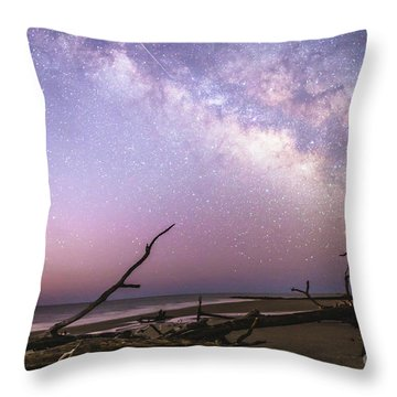 Milky Way Roots Throw Pillow