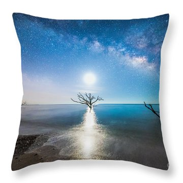 Milky Way Shore Throw Pillow