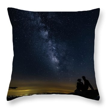 Milky Way Viewed From Rough Ridge Throw Pillow