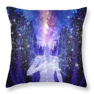 Milkyway Awakening Throw Pillow by Robby Donaghey