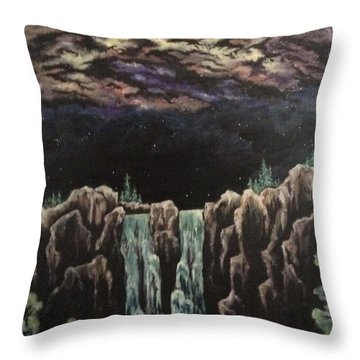Throw Pillow featuring the painting Milkyway by Cheryl Pettigrew