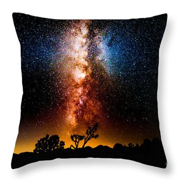 Milkyway Explosion Throw Pillow