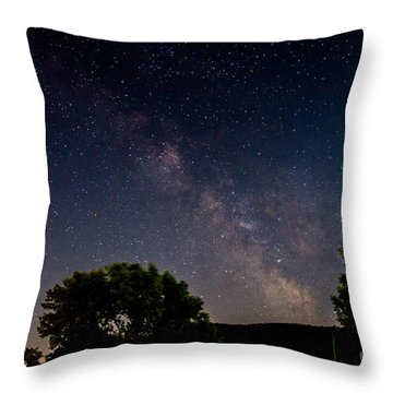 Milkyway In The Catskills Throw Pillow