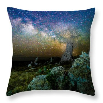Milkyway Over Mono Lake Throw Pillow