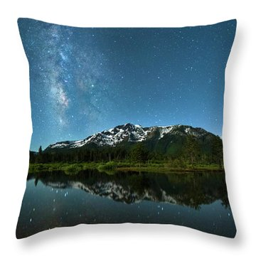 Milkyway Over Tallac By Brad Scott Throw Pillow
