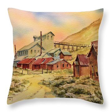 Mill Bodie Ghost Town California Throw Pillow by Kevin Heaney