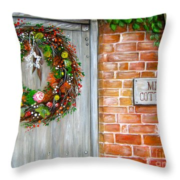 Mill Cottage Throw Pillow by Patrice Torrillo