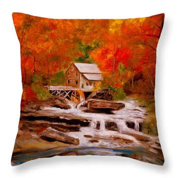 Mill Creek Throw Pillow by Phil Burton
