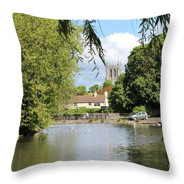 Mill Dam,tickhill Throw Pillow
