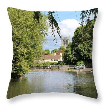 Mill Dam,tickhill Throw Pillow