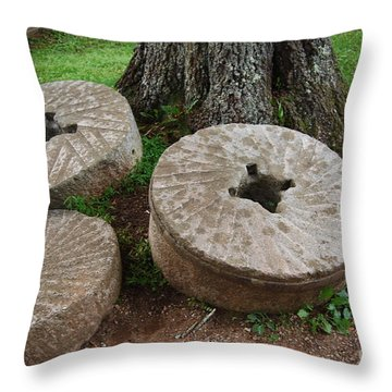 Mill Stone Throw Pillow by Eric Liller