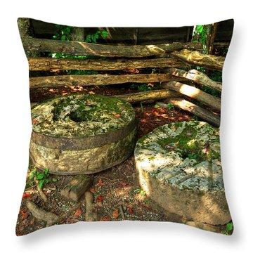 Mill Stones Throw Pillow