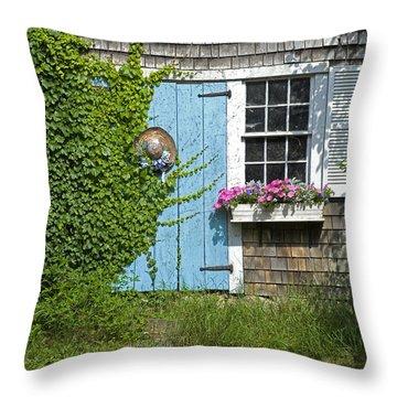 Millway Scene In Barnstable Throw Pillow