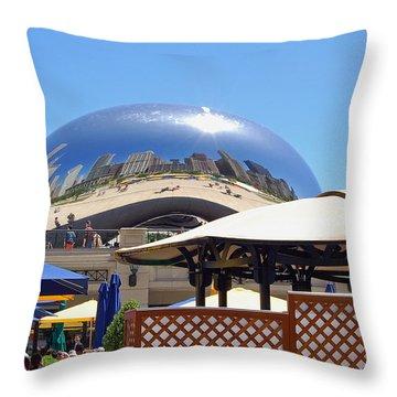 Millenium Park - Slice Of Chicago Throw Pillow