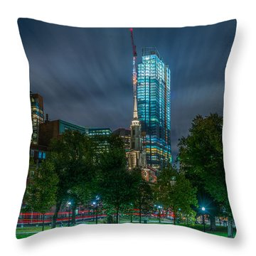 Millennium Construction Throw Pillow
