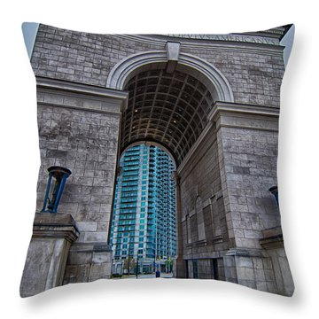 Millennium Gate Triumphal Arch At Atlantic Station In Midtown At Throw Pillow