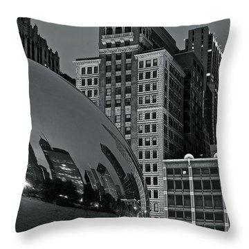 Millennium Park Bean Throw Pillow