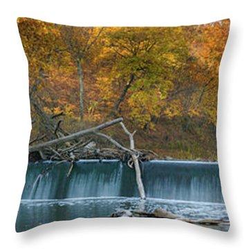 Miller's Dam Pano Throw Pillow
