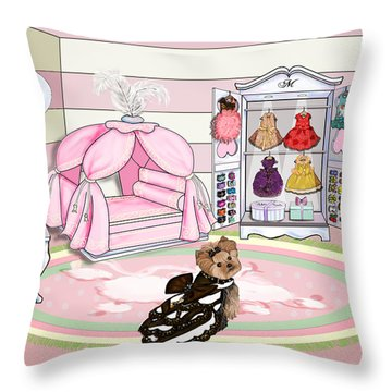 Millie Larue's French Room Throw Pillow