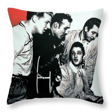 Million Dollar Quartet Throw Pillow