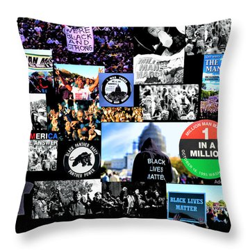 Million Man March Montage Throw Pillow