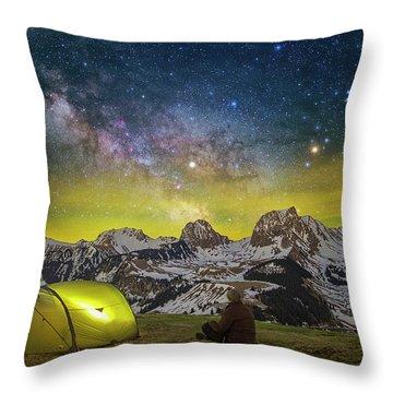 Million Star Hotel Throw Pillow