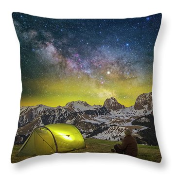 Million Star Hotel Throw Pillow