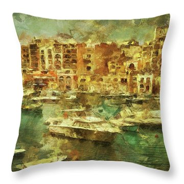 Millionaire's Playground Throw Pillow