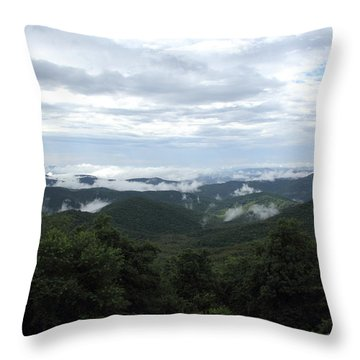 Mills River Valley View Throw Pillow