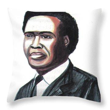 Milton Apolo Obote Throw Pillow
