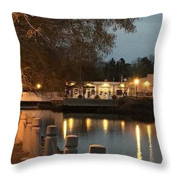 Milton By Night Throw Pillow