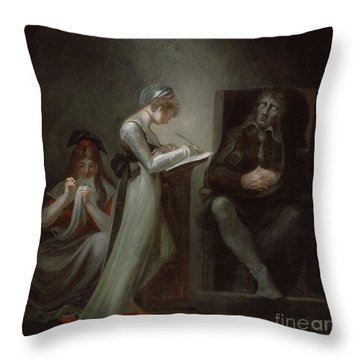 Milton Dictating To His Daughter Throw Pillow