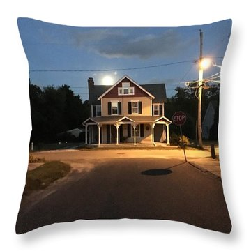 Milton Historic Collins  Throw Pillow