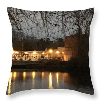 Milton On The Water Throw Pillow