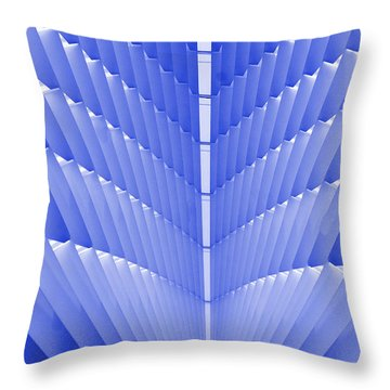 Milwaukee Art Museum Abstract Throw Pillow by Elvira Butler