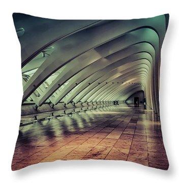 Milwaukee Art Museum Interior Throw Pillow