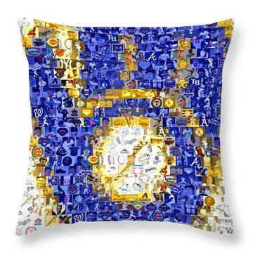 Milwaukee Brewers Mosaic Throw Pillow
