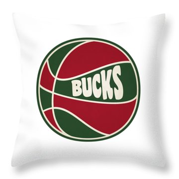 Milwaukee Bucks Retro Shirt Throw Pillow