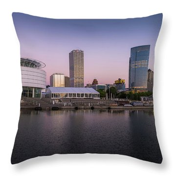 Milwaukee Sky Throw Pillow