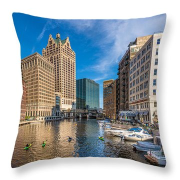 Milwaukee Summer Nights Throw Pillow