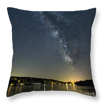 Milky Way From A Pontoon Boat Throw Pillow