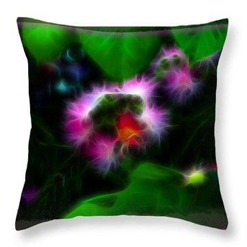 Throw Pillow featuring the photograph Mimosa Flower by EricaMaxine  Price