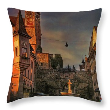 Throw Pillow featuring the photograph Main Square by Hanny Heim
