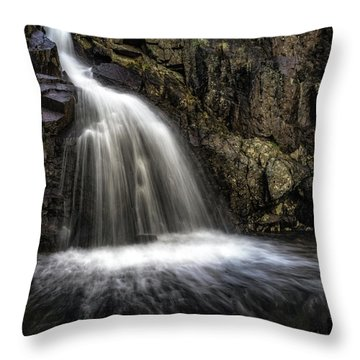 Mina Sauk Falls Throw Pillow by Jae Mishra