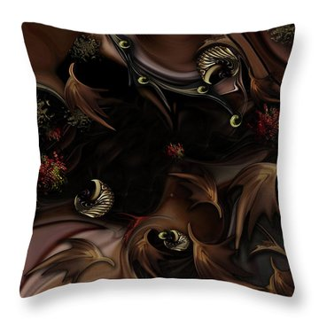 Mind-bending Nature Throw Pillow