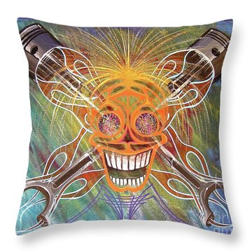Throw Pillow featuring the painting Mind Blown Motorhead  by Alan Johnson