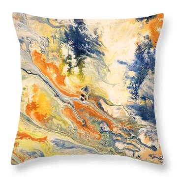 Mind Flow Throw Pillow by Gallery Messina