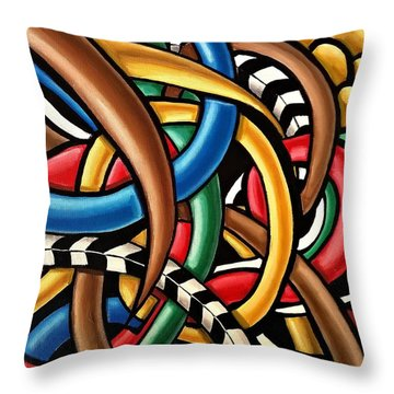 Mind Games - Abstract Energy Painting Throw Pillow