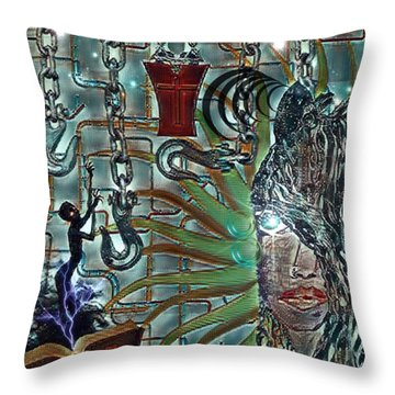 Mind Genocide Throw Pillow
