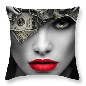 Mind On The Money Throw Pillow